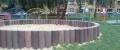 b) Sandpit, palisade P-160x2500