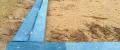 d) Verkleidung des  Sandkastens - Austausch D-130x35-2000