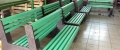 a) L-bench panchina con schienale