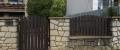 a) Tavola di recinzione profilo D-100x25-2000