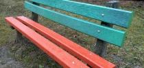 g) Dosky na lavičku, konštrukciu, betón, profil D-120x50 a 130x35