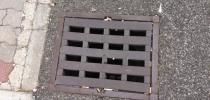 a) Channel drain square, prism