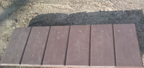 c) Channel drain, board, solid, impermeable