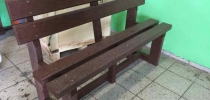 b) All-plastic bench (2 +2, 2 +3)