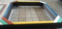 a) Sandkasten, Balken H-90x90-2500