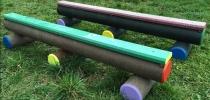 h) Balken180-250 cm, kleine Sitzbank